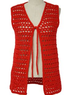 Crocheted vests