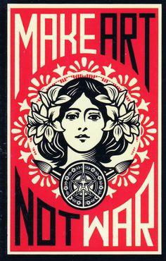 Obey Make Art not War Sheppard Fairey Kidrobot Graffiti Stickers | eBay