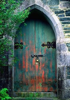 Gothic Green Door by