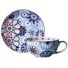 BuyT2 Dazed and Dazzled Cup and Saucer, Blue/Multi, 250ml Online at johnlewis.com