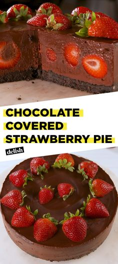 We're Head Over Heels For Chocolate Covered Strawberry PieDelish