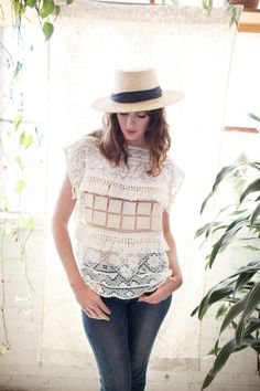 Vintage lace gives this made-to-order top its one-of-a-kind flair. #etsyfashion #festivalstyle