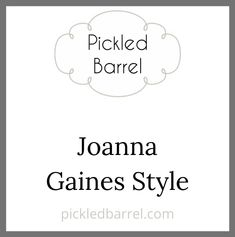 """Joanna Gaines Style: Keep up to date on the latest news & stories from the host of HGTV's hit remodeling show """"Fixer Upper"""" & owner of the Magnolia Market, Joanna Gaines! Visit pickledbarrel.com for more. Modern Farmhouse Decor, Modern Rustic, Rustic Decor, Rustic Cottage, Cottage Style, Joanna Gaines Style, Lakeside Living, Magnolia Market, Lodge Style"""