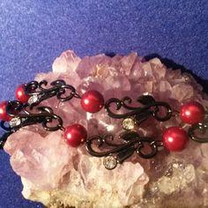 Black metal swirl and leaf design connector beads #hempjewlz #newjewlz #black #metal #swirlandleaf #connectors