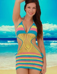 Handmade Crochet Cover up Beach Dress by Bitzz on Etsy, $34.00