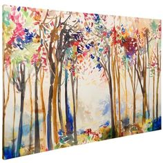 Animated Forest Canvas Art Print ($220) ❤ liked on Polyvore featuring home, home decor, wall art, canvas home decor, canvas wall art, stretched canvas, forest home decor and forest canvas wall art