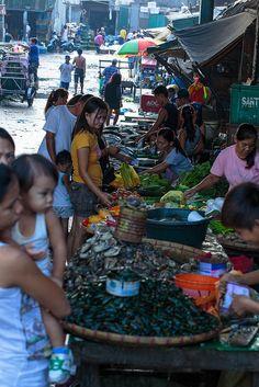 Market Day, Malabong City Market, Manila, Philippines