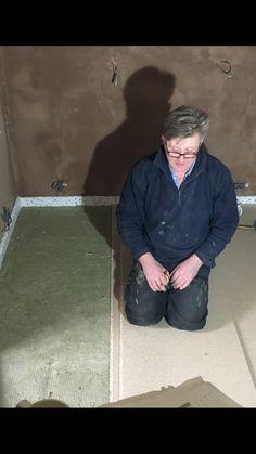 Floating floor construction in Cedar West Studio, Leeds