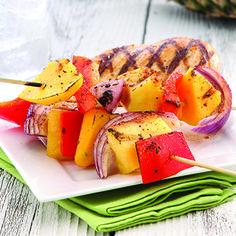 Tropical Fruit and Veggie Kabob