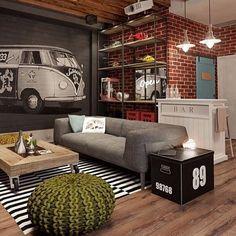 Inspiração para apartamento jovem. #interiordesign #loft #architecture #art #arquiteto #decor #decoration #inspiration #colors #arquitetura #designdeinteriores #luxo #instadesign #pantone #inspiration #laca #house