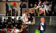 Jewish children dress up in colorful costumes to celebrate Purim