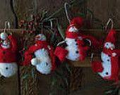 Snowman Ornament set of 4