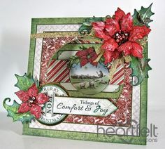 Heartfelt Creations | Sparkling Poinsettia Window Card