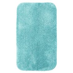 "Room Essentials Sunbleached Turquoise Bath Rug - 20X34 (010892555625) Dig your toes into a plush room essentials bath rug. Made of tufted nylon for superior durability and backed with non-slip latex, it's the perfect place to safely step as you get out� of the shower. This 20"" x 34"" bath mat in sun-bleached turquoise will fit perfectly in any size bathroom. Combine this rug with other pieces from the room essentials bathroom collection for a flawless, eye-catching look."