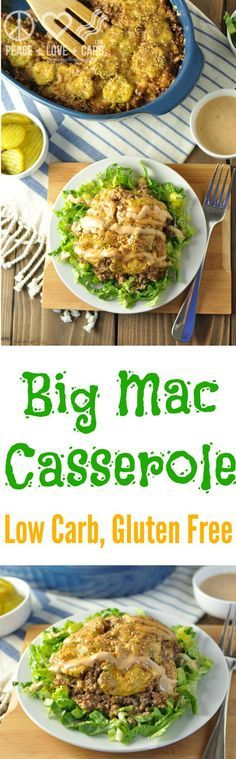 Big Mac Casserole - Low Carb, Gluten Free | Peace Love and Low Carb via @PeaceLoveLoCarb