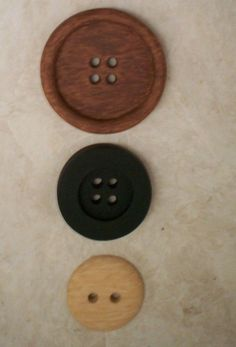 DesignerThree Button Wall Art with two wood by JustJanCreations, $75.00