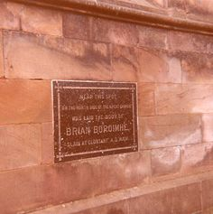 Plaque at Brian Boru's burial place in St. Patrick's Cathedral, (COI), Armagh