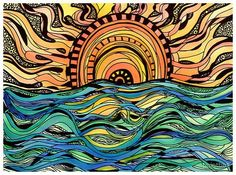 Tarot, Potions, and Psychedelic Magick Spells: June 2011 Kunst Inspo, Art Inspo, Psy Art, Hippie Art, Illustration, Surf Art, Arte Pop, Art Graphique, Psychedelic Art