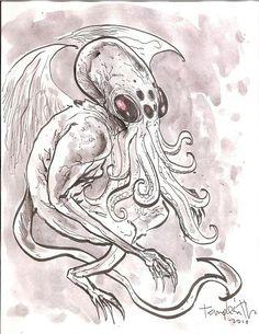 Ben Templesmith Art Ben Templesmith, Lovecraft Cthulhu, Macabre Art, Comic Artist, Comic Books Art, Occult, Dark Art, Phoenix, Art Ideas