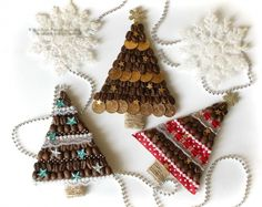 Christmas Candles, Christmas Tree, Christmas Ornaments, Xmas Crafts, Xmas Decorations, Coffee Beans, Toddler Activities, Twine, Decorative Bells
