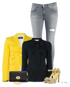 A fashion look from December 2015 featuring MICHAEL Michael Kors, blazer jacket and light wash jeans. Yes, Charlotte Olympia, Dsquared2, Polyvore Fashion, Gardens, Michael Kors, Yellow, Black, Black People