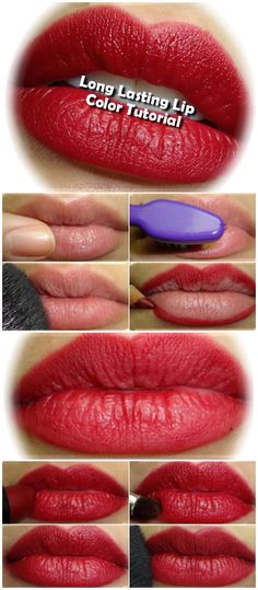 1. Apply a lip balm and massage your lips with your fingers. 2. A good way to get rid of any extra skin on your lips is to rub them with a very clean toothbrush. 3. Use a translucent powder as a lip primer, this will act as a base for the lipstick. 4. Line…