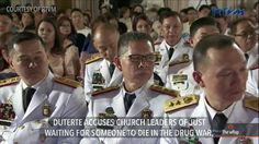 Duterte to Church: Help, don't criticize drug war - WATCH VIDEO HERE -> http://dutertenewstoday.com/duterte-to-church-help-dont-criticize-drug-war-2/   President Rodrigo Duterte launched a new tirade against leaders of the Roman Catholic Church in the country, blaming them for criticizing without helping address the spread of drugs. More of today's top stories on #TheWrap:  News video credit to Rappler's YouTube channel