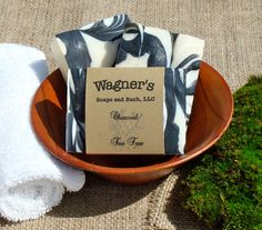 Tea Tree and Activated Charcoal, great for the skin. Check out our full line of facial soaps