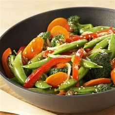 Stir-Fry Vegetables: Use fresh vegetables in season to prepare this easy stir-fry.