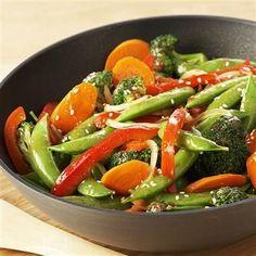 Use fresh vegetables in season to prepare this easy stir-fry.