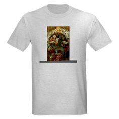 Beautiful Victorian Nativity Scene - Christmas Lig Xmas Light T-Shirt by CafePress. Christmas Nativity - this glorious religious Christmas scene features Jesus, Mary and Joseph with angels and the three wise men. Available on Christmas cards, ornaments, clothing and other gift items. Xmas Light T-Shirt Tee, TShirt, Shirt Look cool without breaking the bank. Our durable, high-quality, pre-shrunk 100% cotton t-shirt is what to wear when you want to go comfortably casual. Preshrunk, durable and…