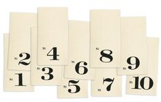 Image of Numbered Edition Napkins, set of ten