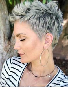 21 Best White Pixie Short Haircuts Ideas To Be Cool - Short white pixie haircut, short haircut ideas, white pixie haircut, ash white hair color, short hairstyle Short Blonde Pixie, Short Grey Hair, Short Pixie Haircuts, Pixie Hairstyles, Cool Hairstyles, Haircut Short, Buzzcut Haircut, Latest Hairstyles, Trending Hairstyles