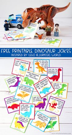 Kids will be ROARING with laughter with Free Printable Dinosaur Jokes inspired by #LEGO Juniors #JurassicWorld set! #dinosaur #jokes #freeprintable #kids #kidsactivities #funny #punny