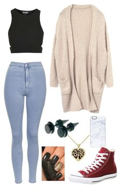"""""""Untitled #118"""" by jaythepanda19 ❤ liked on Polyvore featuring Topshop, Casetify and Converse"""