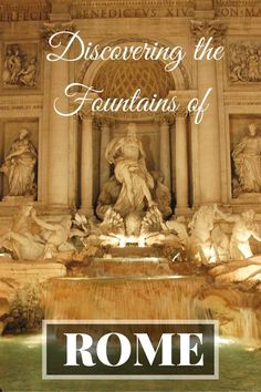 The Eternal City is filled with water features, a welcome sight in the hot summer months! A guide to discovering the Fountains of Rome. | italy travel