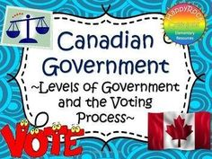 Canadian Government and the Voting Process Task Cards Government Lessons, Teaching Government, Levels Of Government, Government Of Canada, Social Studies Resources, Teaching Social Studies, Canadian Social Studies, Voting Process, Get Out The Vote