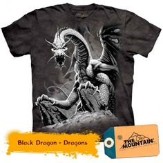 This Black Dragon Hoodie features the artwork of Romas Kukalis. The fantasy image features a black dragon on a rock cliff. Our fantasy and medieval hoodies are individually hand dyed with organic dyes and printed with water based ink. Tie Dye T Shirts, Band Shirts, Tee Shirts, Tees, Dragon Hoodie, Biker, Dragon Kid, Steampunk, Dragon Design