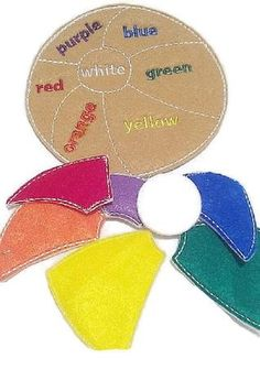 Felt Learn your colors beach ball puzzle game- educational game learning toy perfect for busy bags