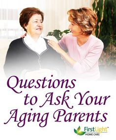 Mom if you are reading this, know this post is NOT meant for you! XOXO What questions should you ask your aging parents?