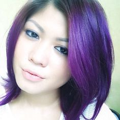 Ms. Revka from Indonesia looks gorgeous with #DeepPurpleDream hair.