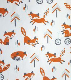 Magic Moon™ Little Fox Cotton Fabric-Trees