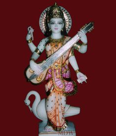 Online shopping of Saraswati Marble Murti, statue and idol for hindu god - goddess. Please send us quotation request.