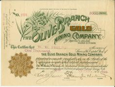 The Olive Branch Gold Mining Company