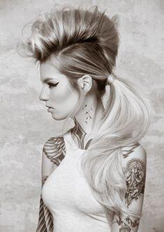 Hairstyles Haircuts, Down Hairstyles, Hairdos, Updos, High Fashion Hair, Dramatic Hair, Runway Hair, Crazy Hair Days, Hair Heaven