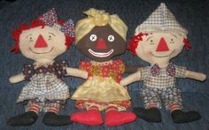 Primitive Beloved Belindy, Raggedy Ann, and Raggedy Andy from primsicalprairie......