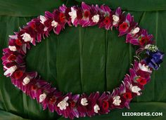 Orchid, rose and tuberose lei