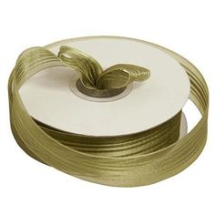 25 Yard DIY Willow Green Organza Ribbon With Satin Stripes For Craft Dress Wedding Willow Green, Organza Ribbon, Wedding Accessories, Wedding Decorations, Stripes, Satin, Fancy, Pure Products, Wedding Dresses