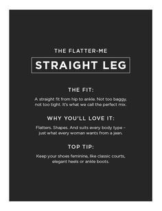 These are the ' suit everyone' jeans. They sit comfortably without being baggy or too skin tight. Skin Tight, Body Types, Your Shoes, Tights, Suits, Jeans, Navy Tights, Suit, Body Shapes