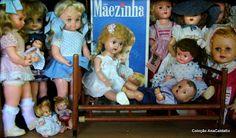 Brinquedo antigo: Mini Cama Patente de mola para Bonecas
